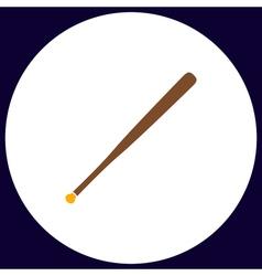 Baseball bat computer symbol vector
