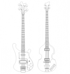 bass vector image