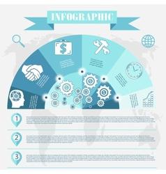 Business development infographics vector
