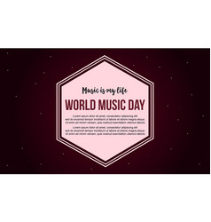 Celebration world music day banner style vector