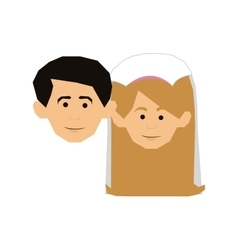 Couple just married icon image vector