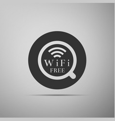 Cup of coffee shop with free wifi zone sign vector