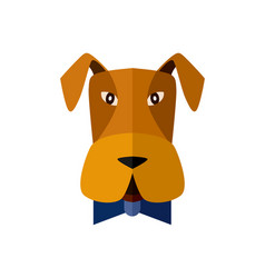 dog head icon in flat design vector image vector image