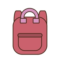 Drawing pink bag school pupil vector