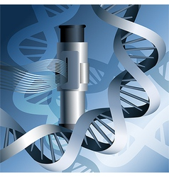 Electron microscope and dna vector