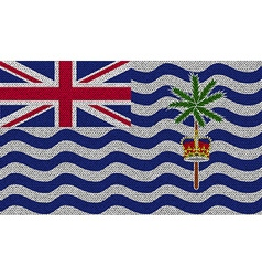 Flags british indian ocean territory on denim vector