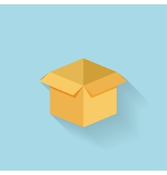 Flat box icon for web vector image vector image