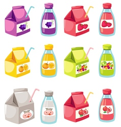 fruit and vegetables juice vector image