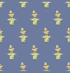 Garden scarecrow seamless pattern vector