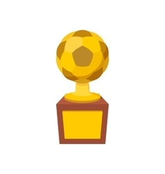 Gold soccer cup cartoon icon vector