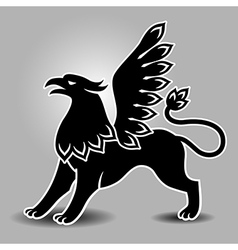 griffin stand vector image vector image