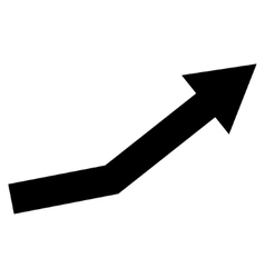 Growth trend flat icon vector