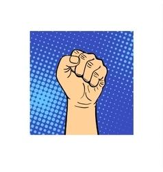 Human hand fist vector
