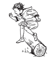 Hurdle jump vintage vector