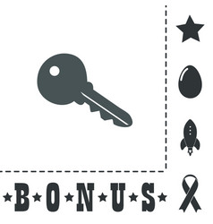 key symbol isolated on background vector image vector image
