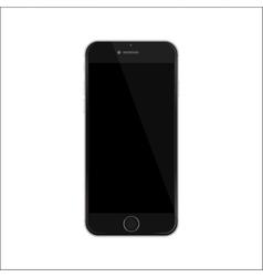 New version of black slim smartphone vector image