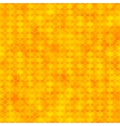 Orange seamless pattern with hexagon shapes vector