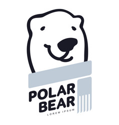polar bear logo vector image