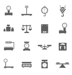 Scales icons set vector image vector image