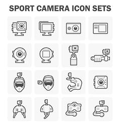 Sport Camera Icon vector image vector image