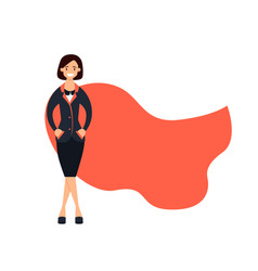 successful business woman superhero vector image vector image