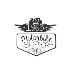 Super engine vintage emblem vector