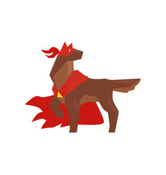 Superhero dog character standing in heroic pose vector