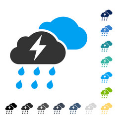 Thunderstorm clouds icon vector