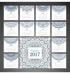 Vintage calendar 2017 vector