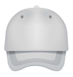 white cap front view mockup realistic style vector image vector image