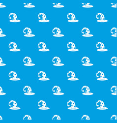wizards hat pattern seamless blue vector image vector image
