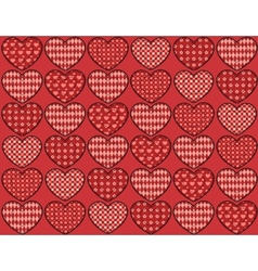Quilt hearts seamless pattern vector