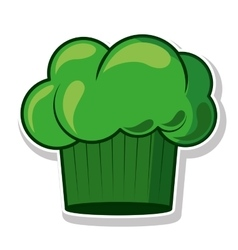 Green silhouette with chefs hat vector