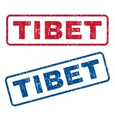 Tibet rubber stamps vector