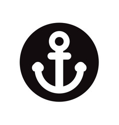 Black icon on white background sea anchor vector