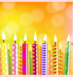 Birthday card with candle vector