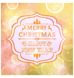 Abstract card with the words merry christmas vector