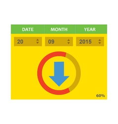Download with dates vector image