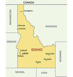 Idaho - map vector