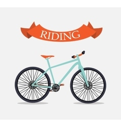 Retro bicycle background vector