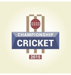 Logo template championship cricket vector