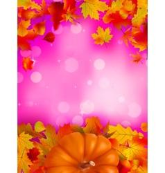 autumn leafs frame vector image