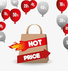 Hot price shopping design vector