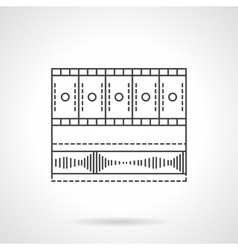 Video media bar flat line icon vector