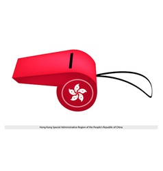 A Beautiful Red Whistle of Hong Kong vector image