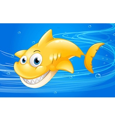 A yellow shark under the water vector image