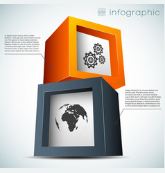 abstract infographic concept vector image vector image