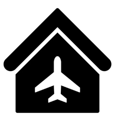 Aircraft hangar flat icon vector