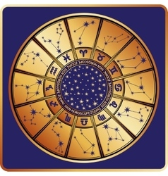 All zodiac signconstellationhoroscope circle vector