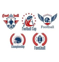 American football heraldic sporting symbols vector image